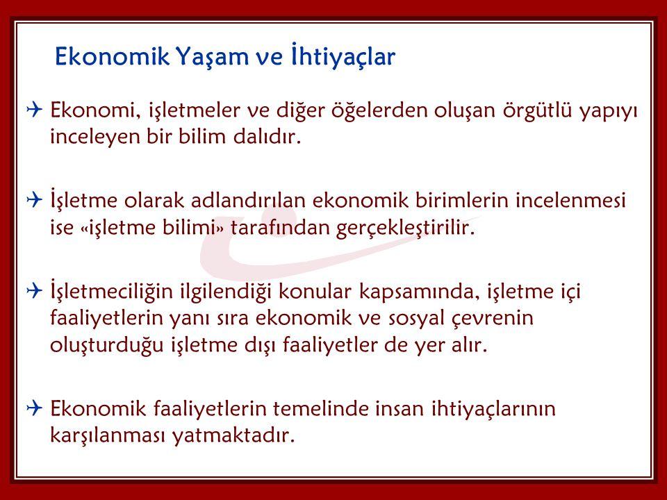 Ekonomik Yaşam ve İhtiyaçlar