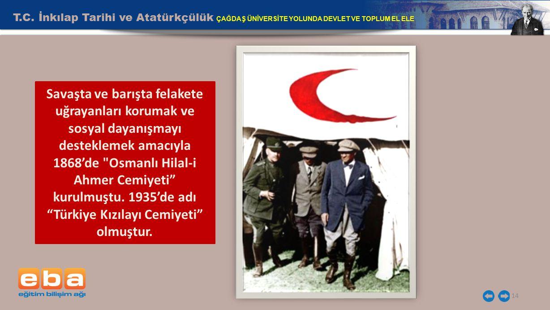 T.C. İnkılap Tarihi ve Atatürkçülük ÇAĞDAŞ ÜNİVERSİTE YOLUNDA DEVLET VE TOPLUM EL ELE