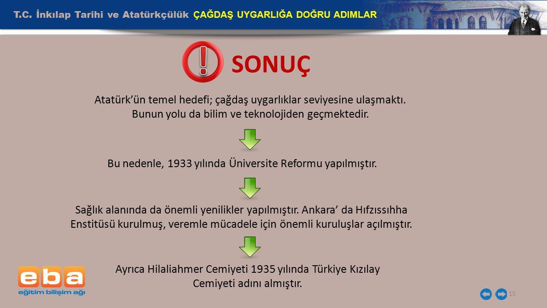 Bu nedenle, 1933 yılında Üniversite Reformu yapılmıştır.