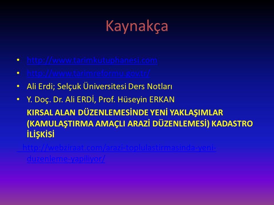 Kaynakça http://www.tarimkutuphanesi.com