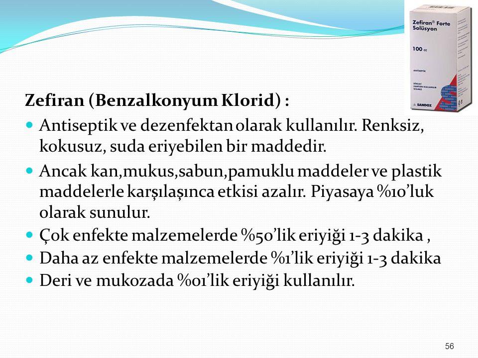 Zefiran (Benzalkonyum Klorid) :