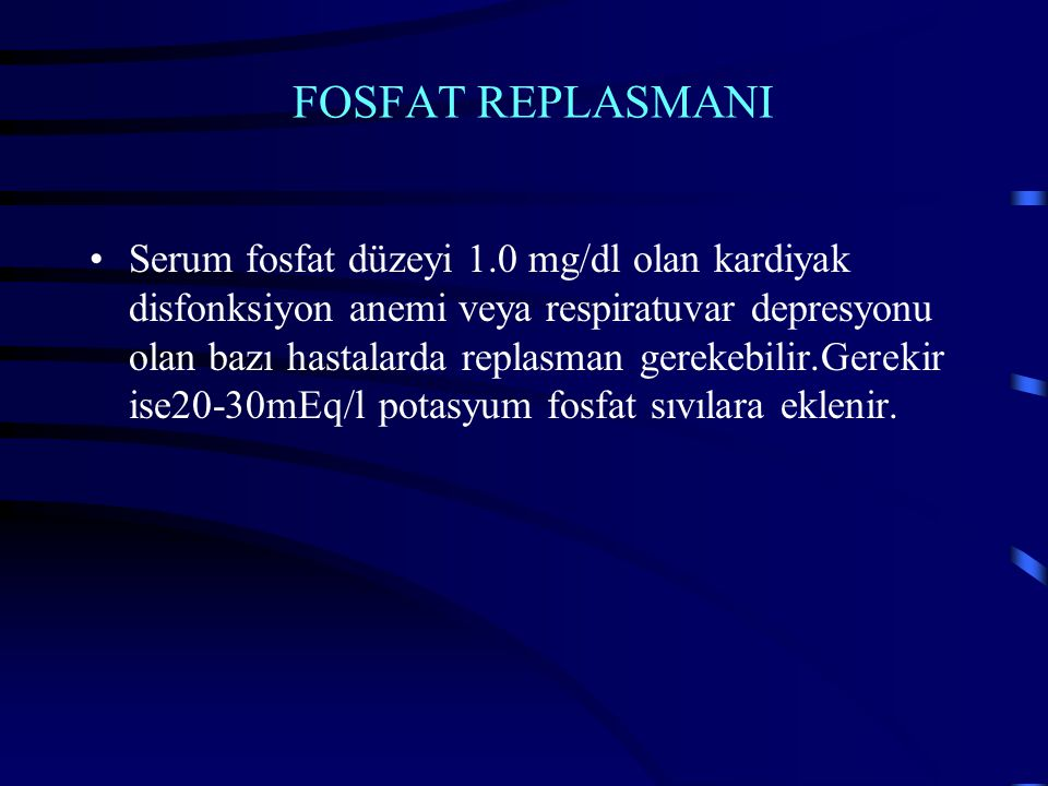 FOSFAT REPLASMANI