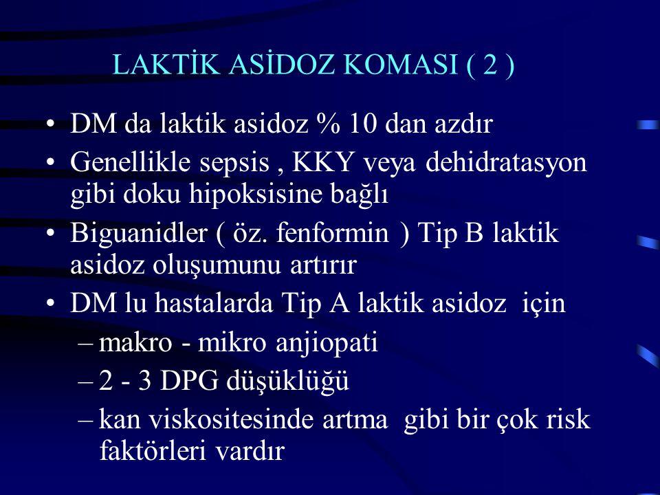 LAKTİK ASİDOZ KOMASI ( 2 )
