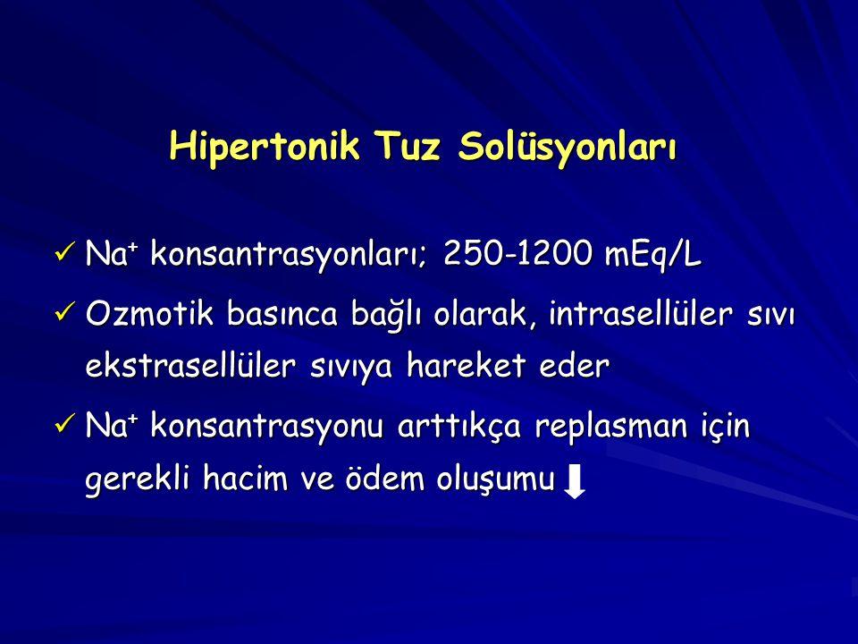 Hipertonik Tuz Solüsyonları