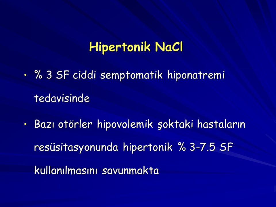 Hipertonik NaCl % 3 SF ciddi semptomatik hiponatremi tedavisinde