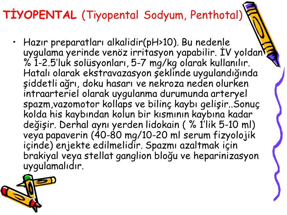 TİYOPENTAL (Tiyopental Sodyum, Penthotal)