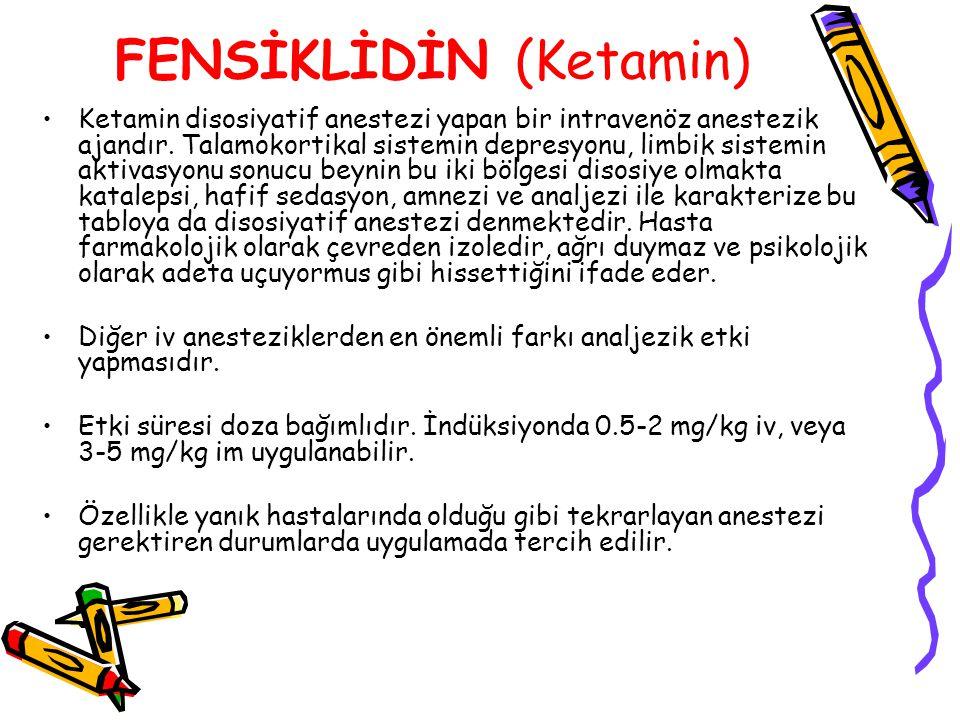 FENSİKLİDİN (Ketamin)