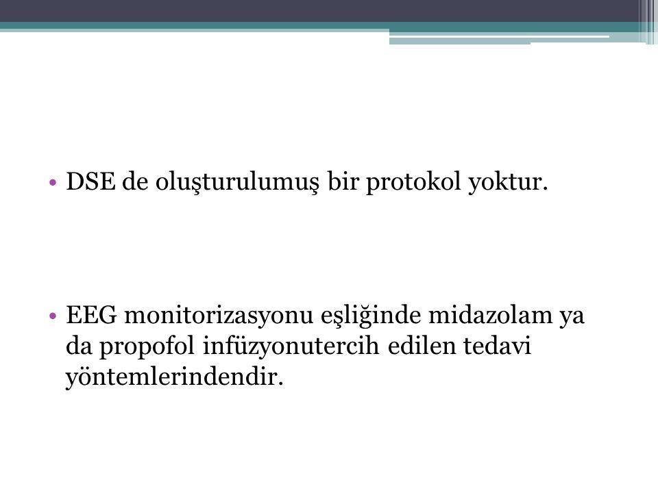 DSE de oluşturulumuş bir protokol yoktur.