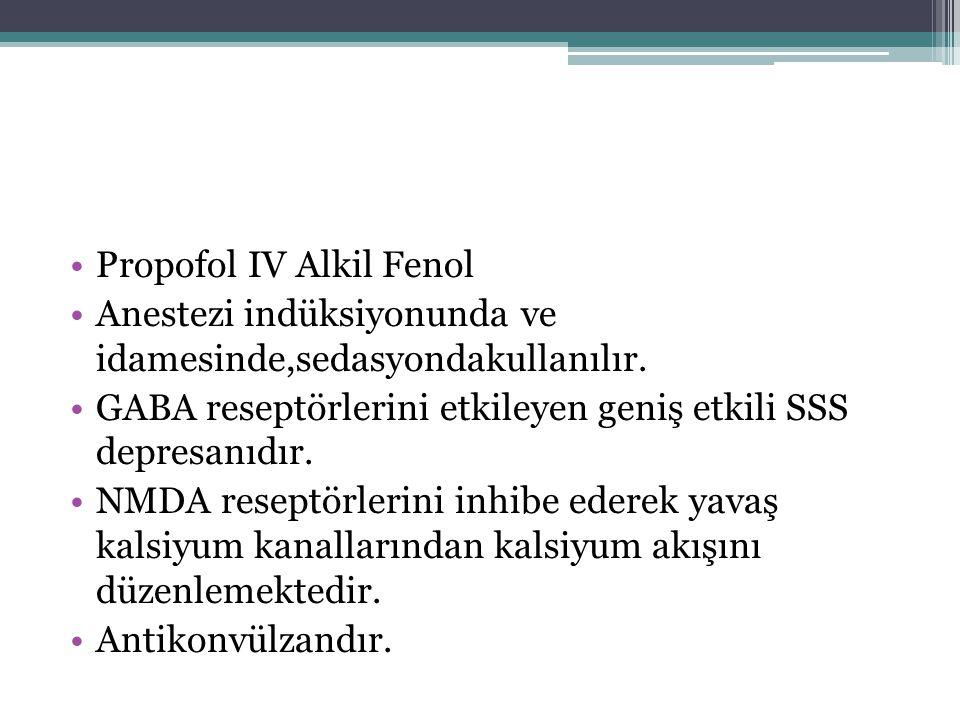 Propofol IV Alkil Fenol