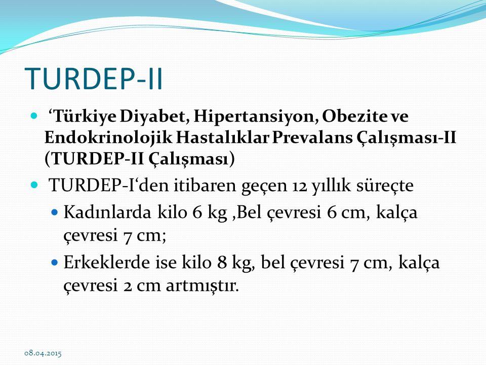 TURDEP-II TURDEP-I'den itibaren geçen 12 yıllık süreçte