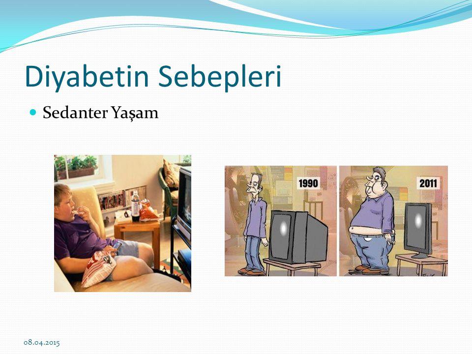 Diyabetin Sebepleri Sedanter Yaşam 10.04.2017