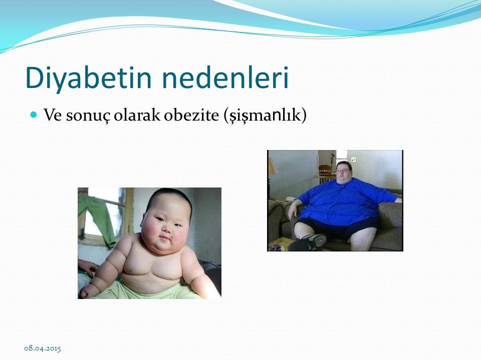 Diyabetin nedenleri Ve sonuç olarak obezite (şişmanlık) 10.04.2017