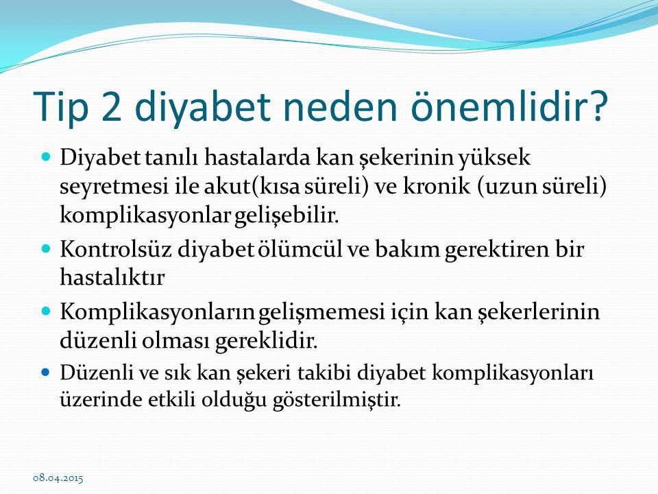 Tip 2 diyabet neden önemlidir