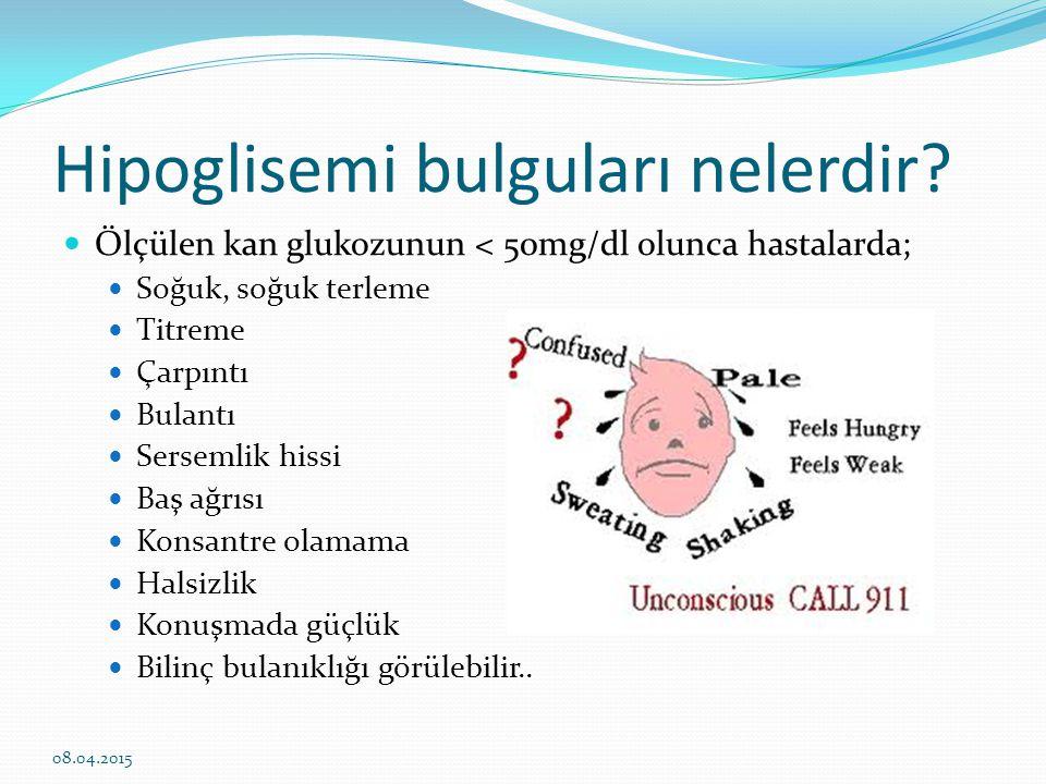 Hipoglisemi bulguları nelerdir