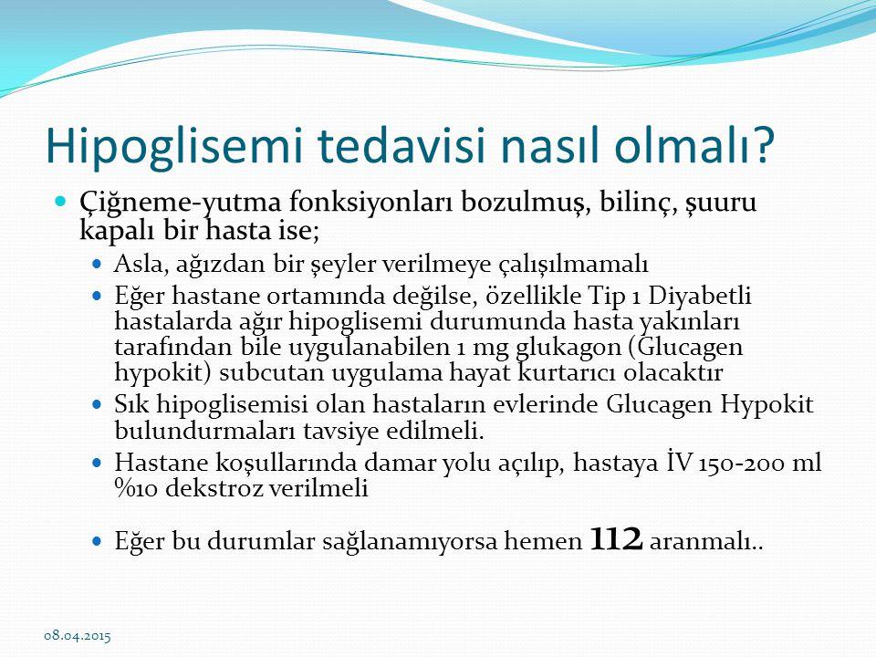 Hipoglisemi tedavisi nasıl olmalı