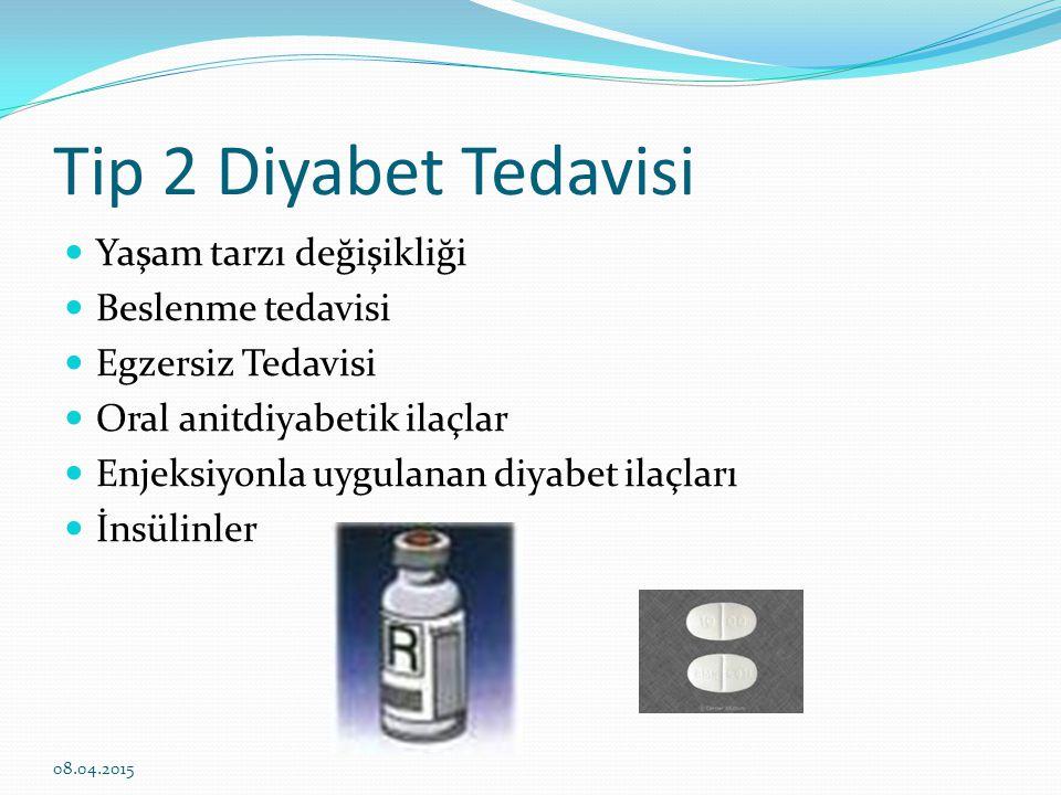 Tip 2 Diyabet Tedavisi Yaşam tarzı değişikliği Beslenme tedavisi