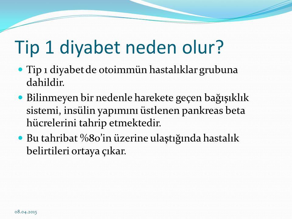 Tip 1 diyabet neden olur Tip 1 diyabet de otoimmün hastalıklar grubuna dahildir.