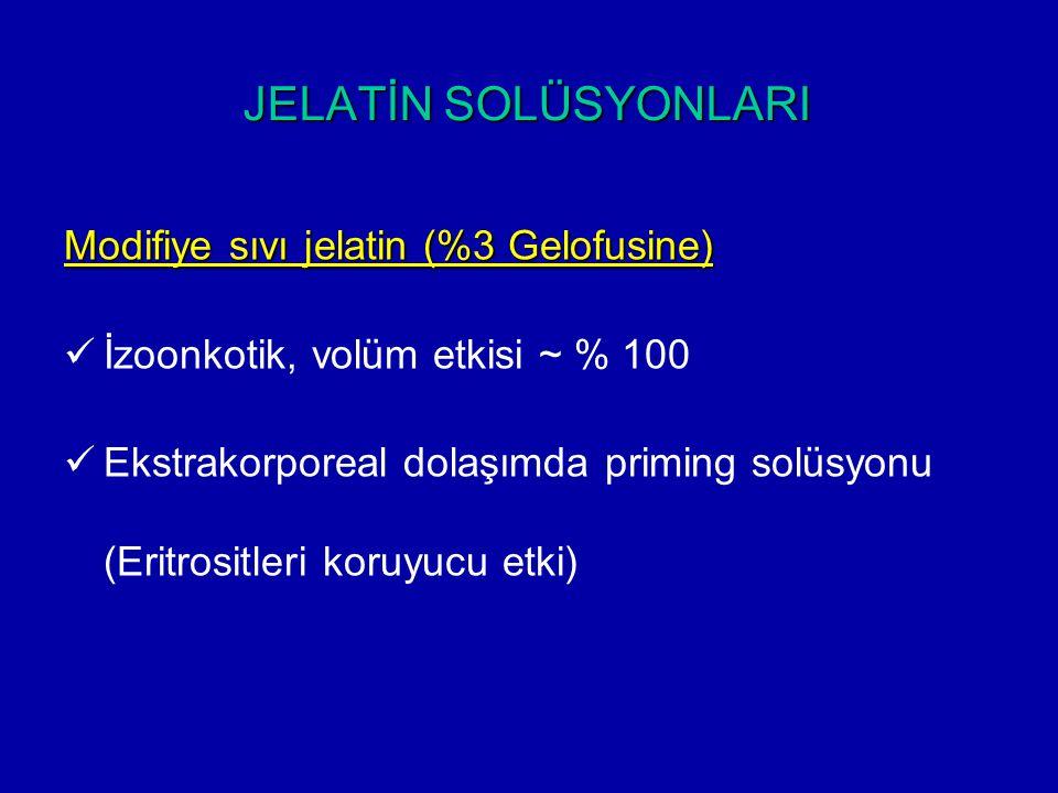JELATİN SOLÜSYONLARI Modifiye sıvı jelatin (%3 Gelofusine)