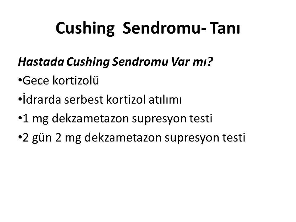 Cushing Sendromu- Tanı