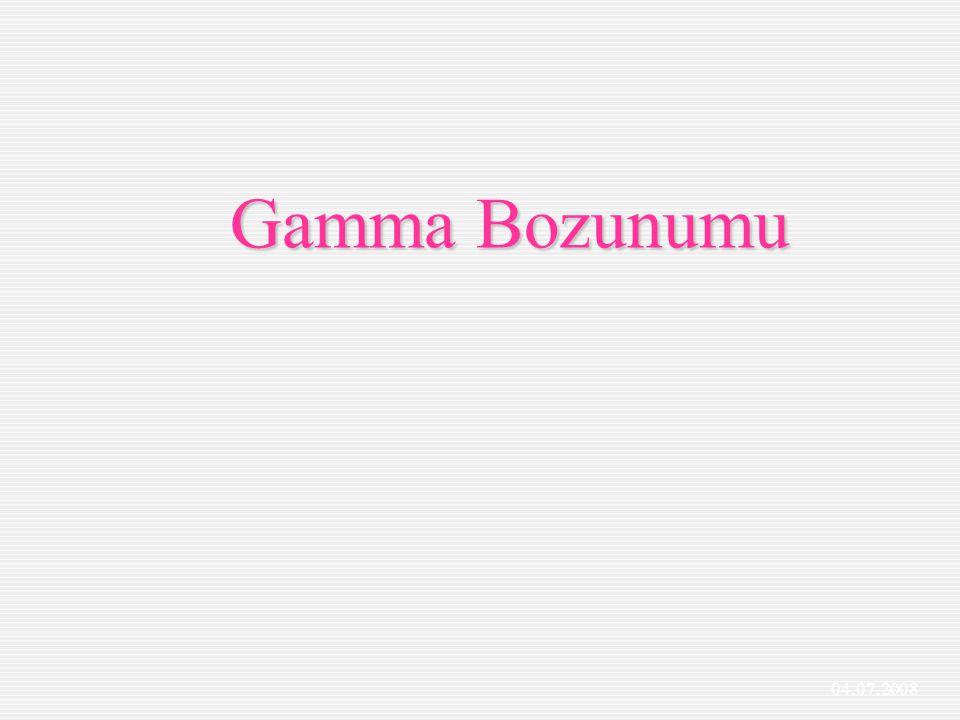 Gamma Bozunumu 04.07.2008