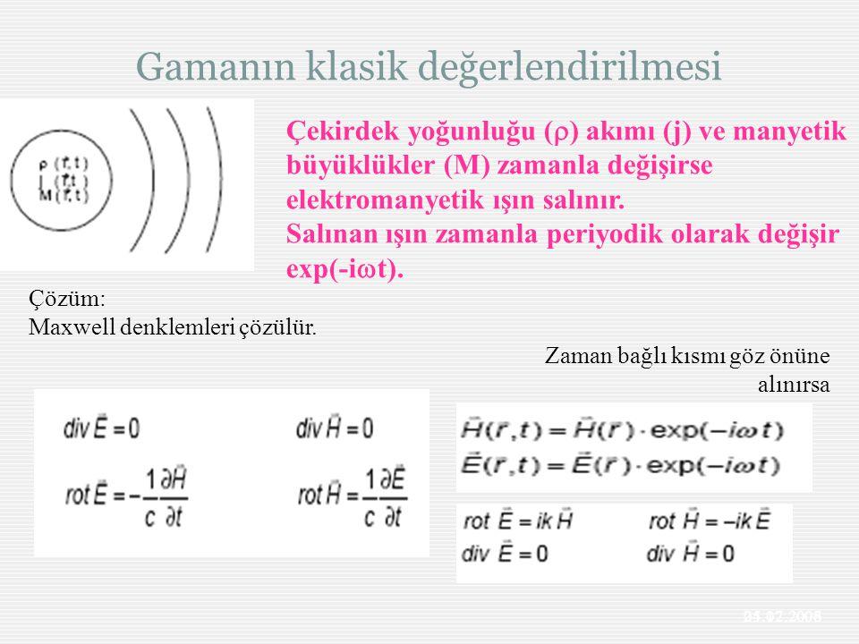 Gamanın klasik değerlendirilmesi