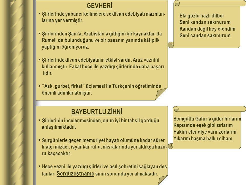 GEVHERİ BAYBURTLU ZİHNİ