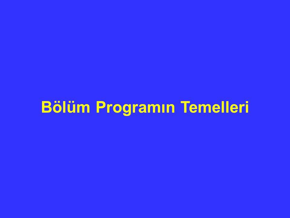 Bölüm Programın Temelleri
