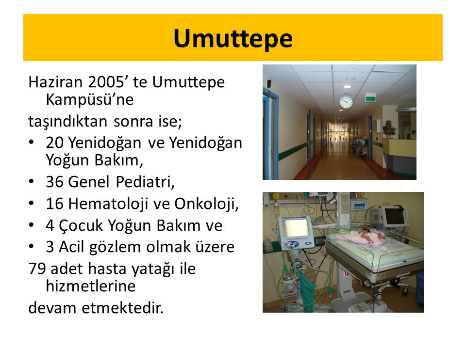 Umuttepe Haziran 2005' te Umuttepe Kampüsü'ne taşındıktan sonra ise;