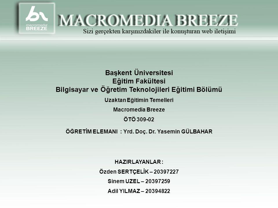 Başkent Üniversitesi Eğitim Fakültesi Bilgisayar ve Öğretim Teknolojileri Eğitimi Bölümü