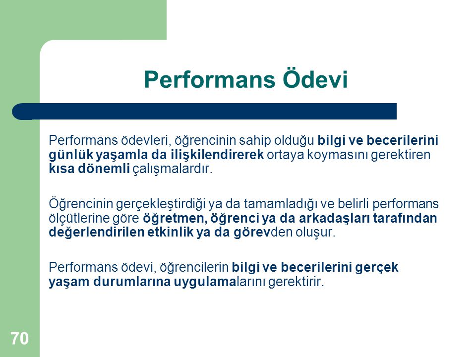 Performans Ödevi