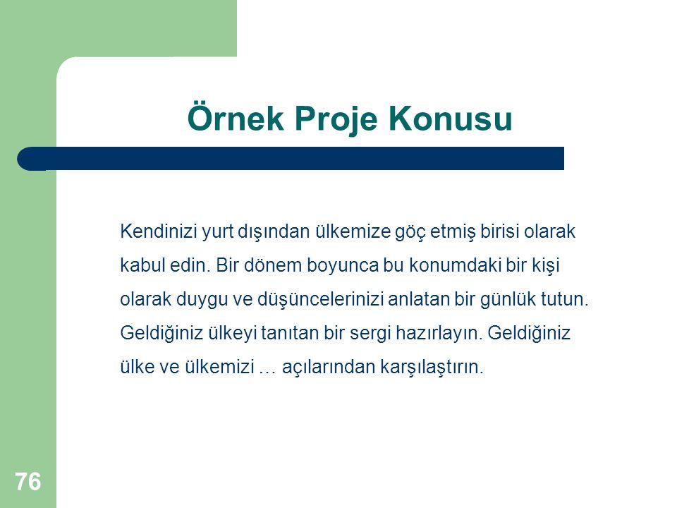 Örnek Proje Konusu