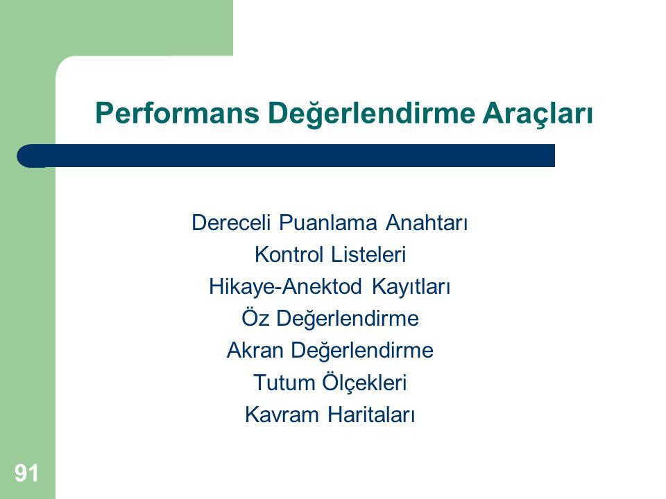 Performans Değerlendirme Araçları