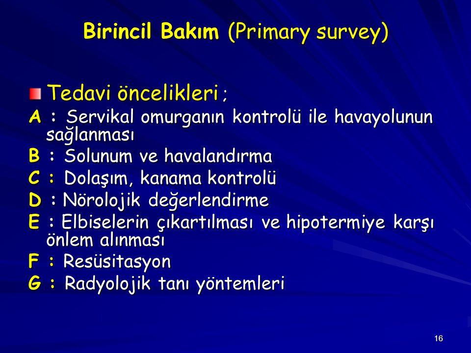 Birincil Bakım (Primary survey)