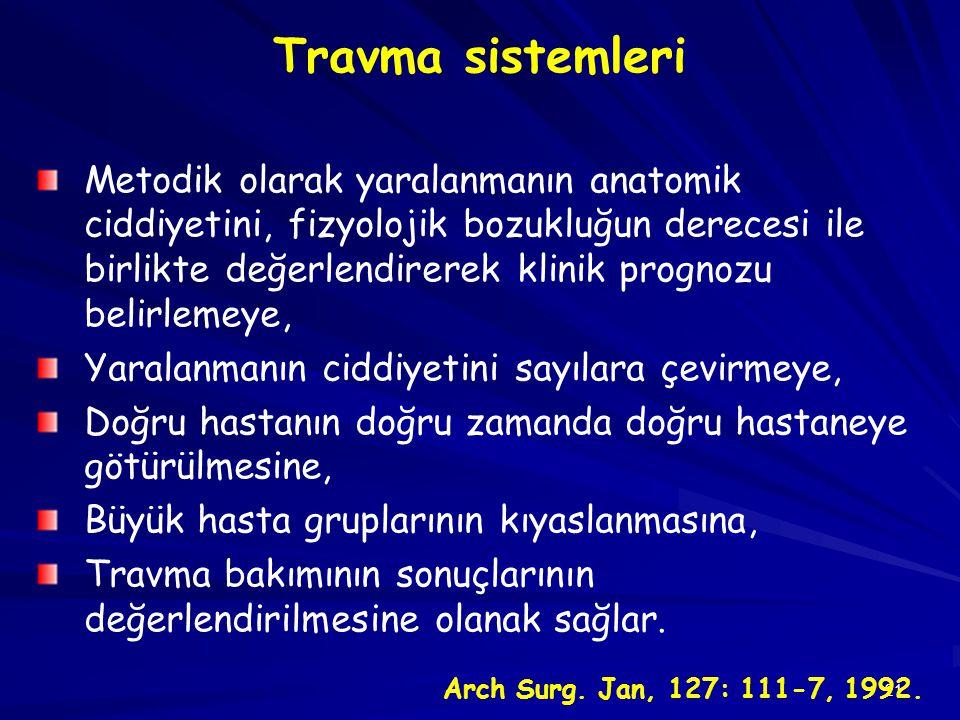 Travma sistemleri
