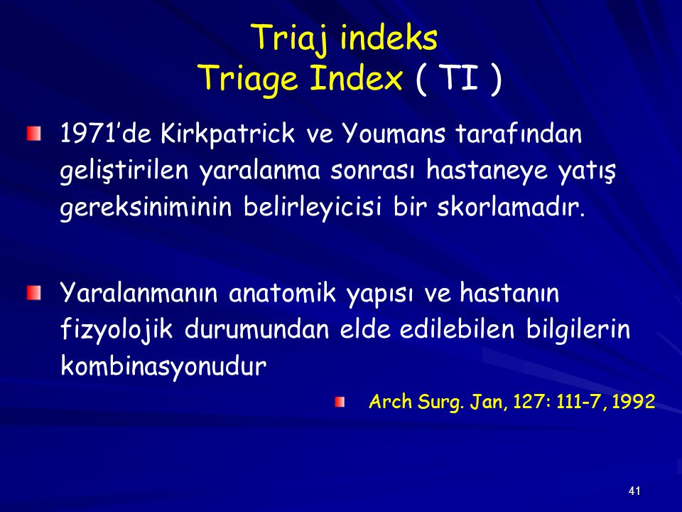Triaj indeks Triage Index ( TI )