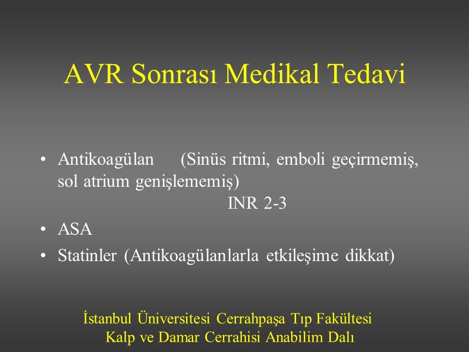 AVR Sonrası Medikal Tedavi