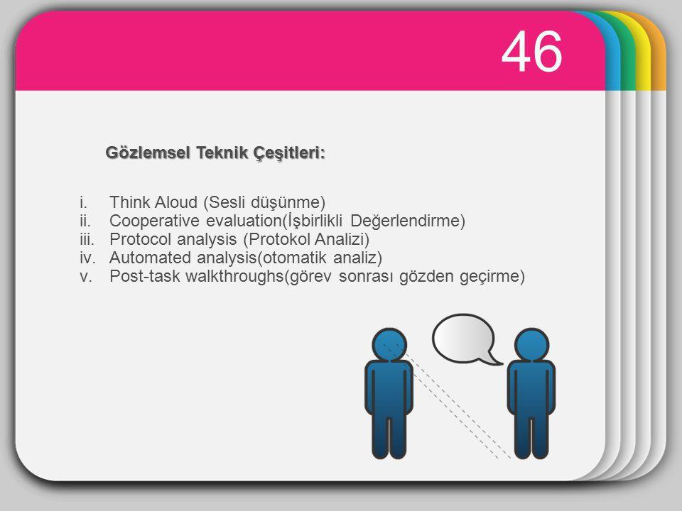 WINTER 46 Template Gözlemsel Teknik Çeşitleri: