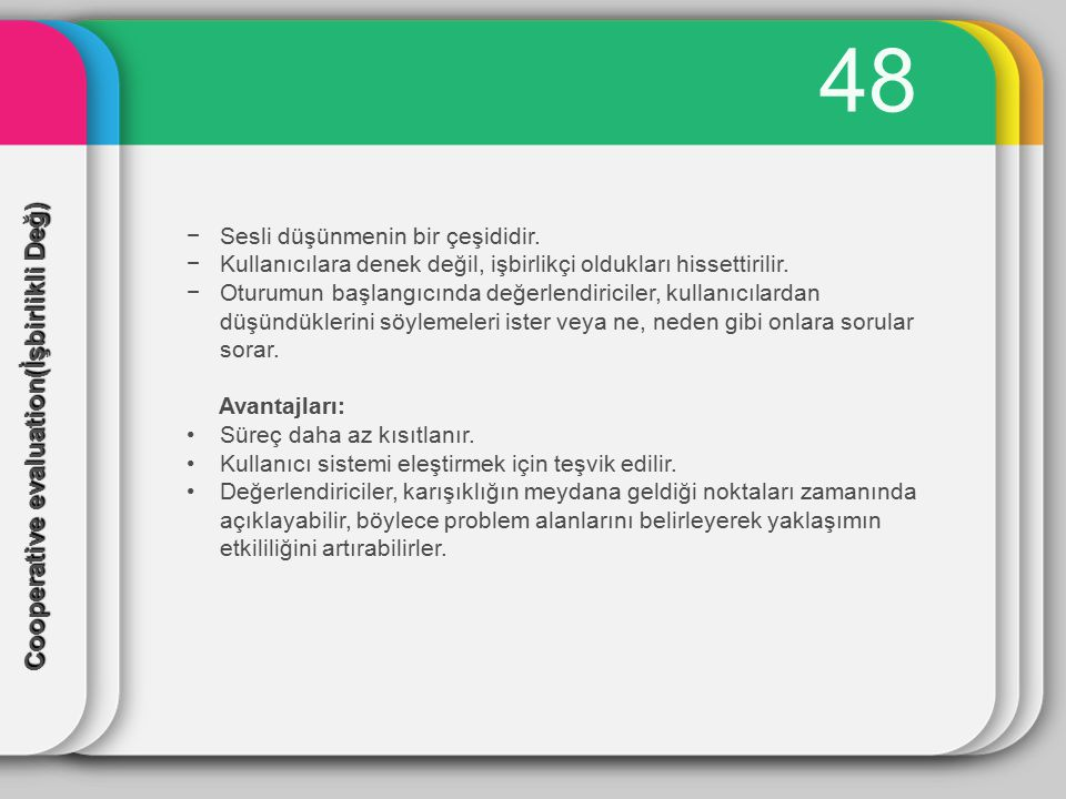 48 Cooperative evaluation(İşbirlikli Değ)