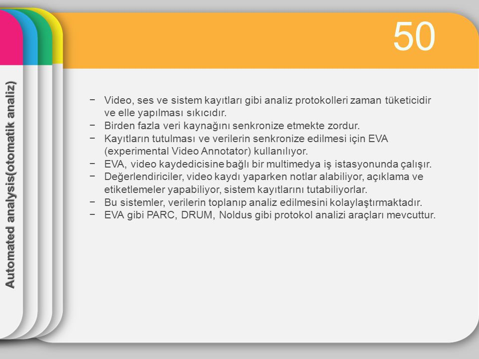 50 Automated analysis(otomatik analiz)