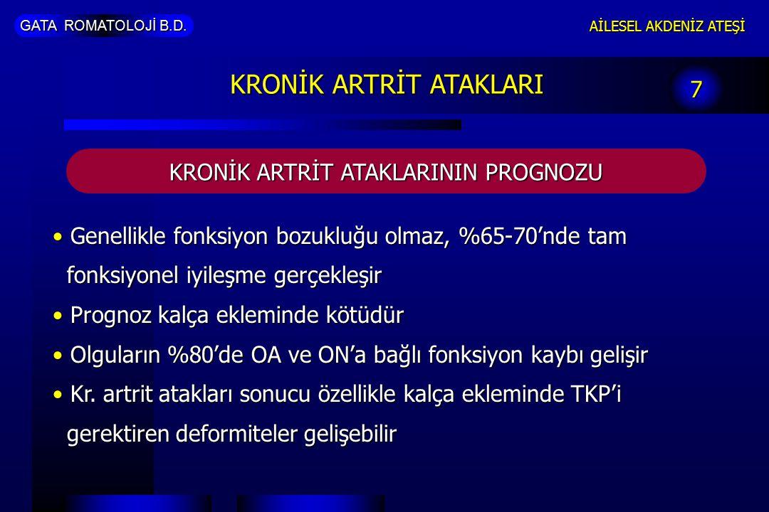 KRONİK ARTRİT ATAKLARI