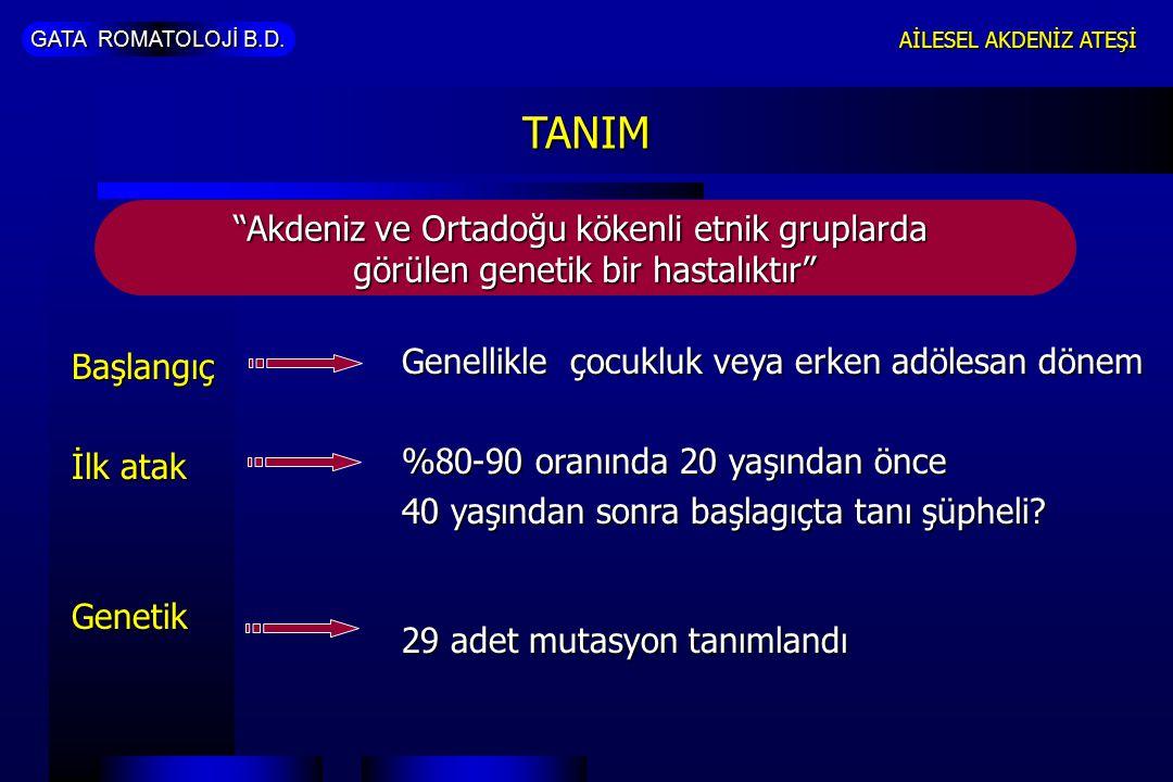 TANIM Akdeniz ve Ortadoğu kökenli etnik gruplarda