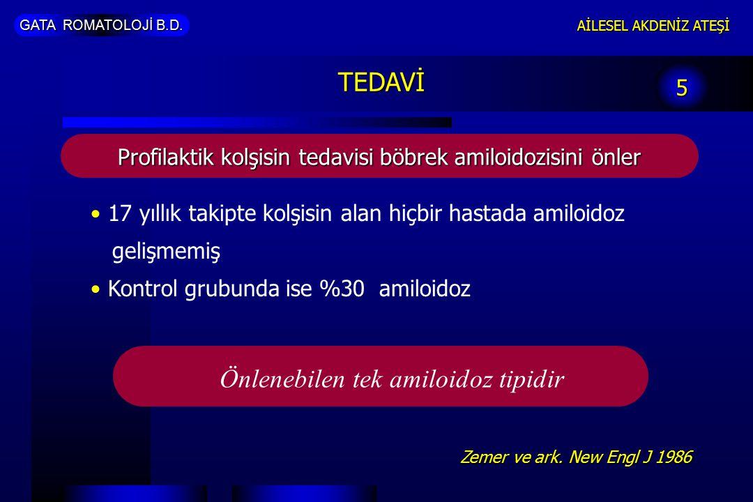 Önlenebilen tek amiloidoz tipidir