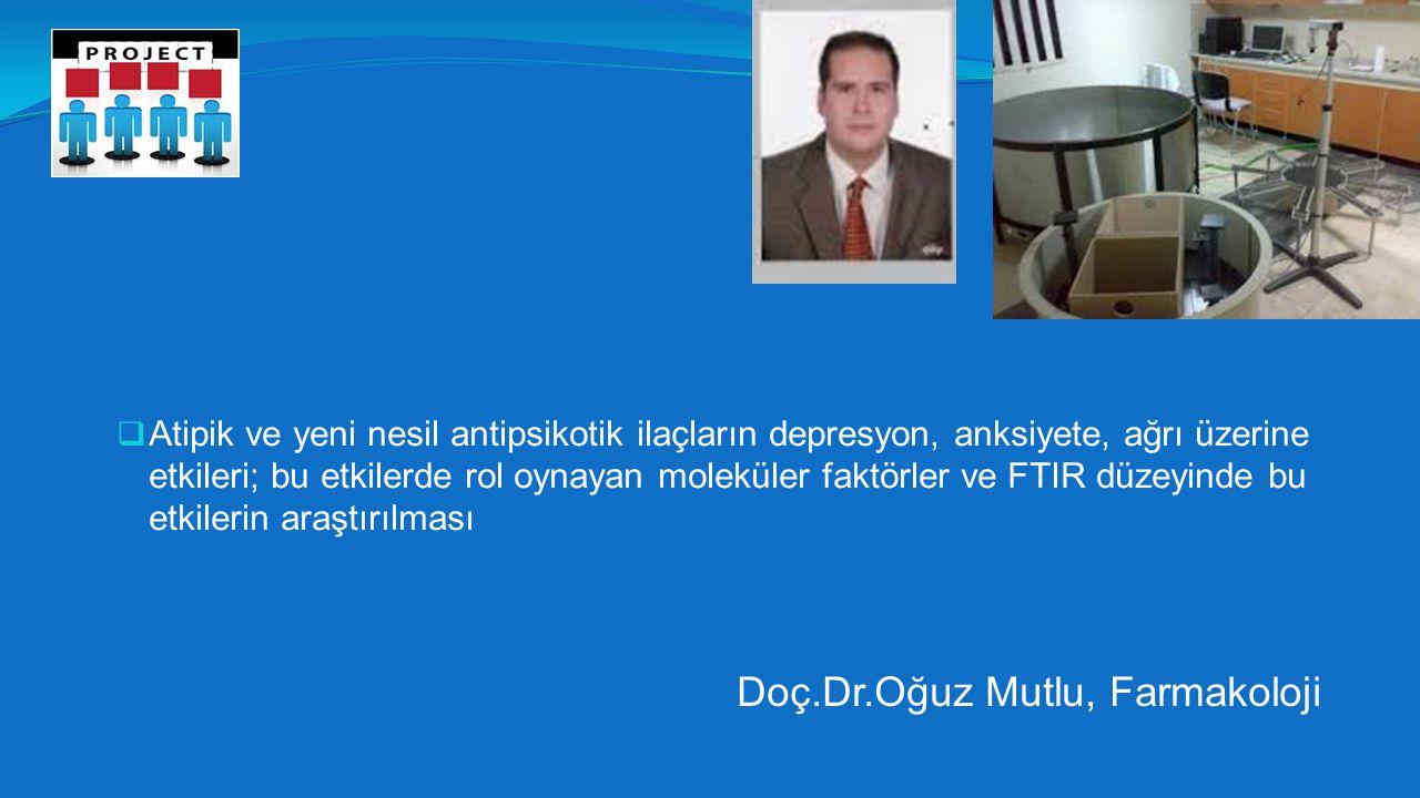 Doç.Dr.Oğuz Mutlu, Farmakoloji