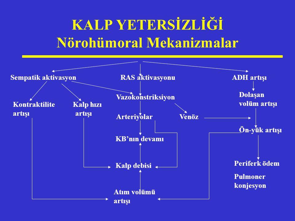 KALP YETERSİZLİĞİ Nörohümoral Mekanizmalar