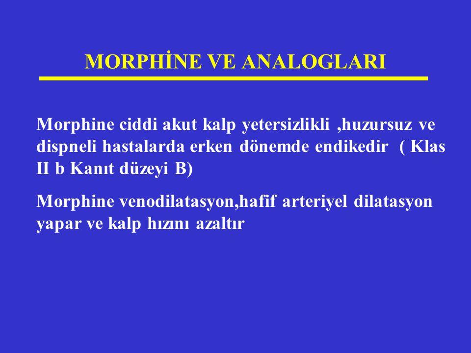 MORPHİNE VE ANALOGLARI