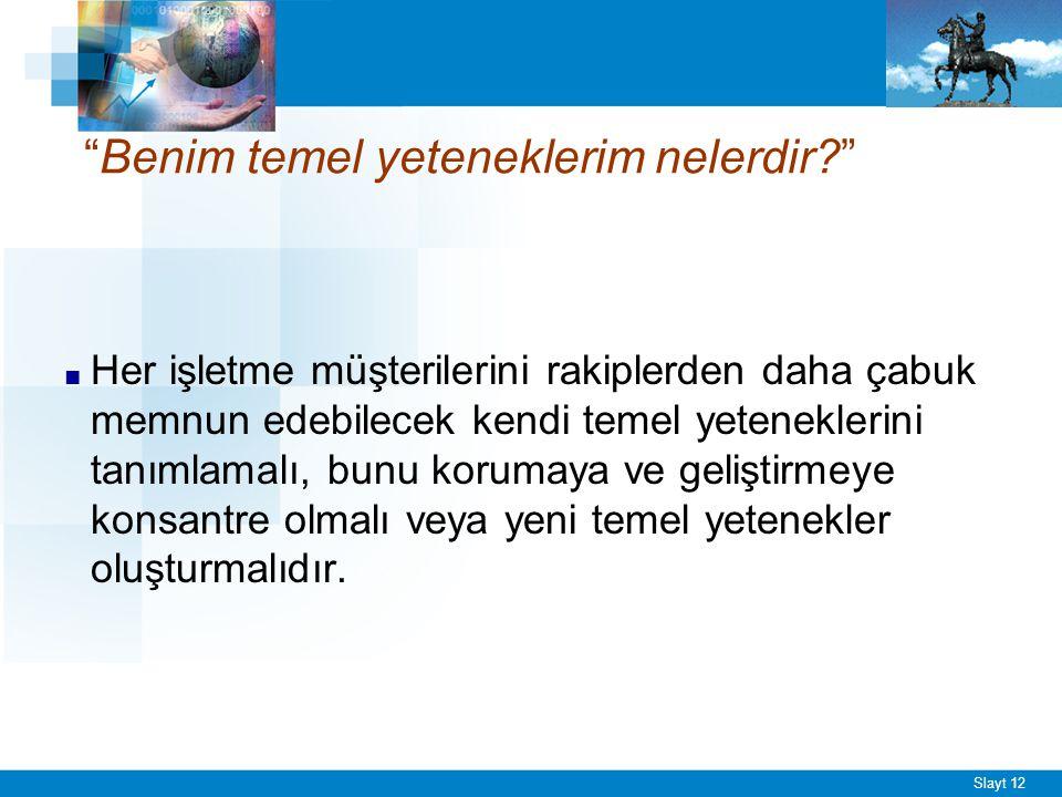 TEMEL YETENEKLERİN TEST EDİLMESİ