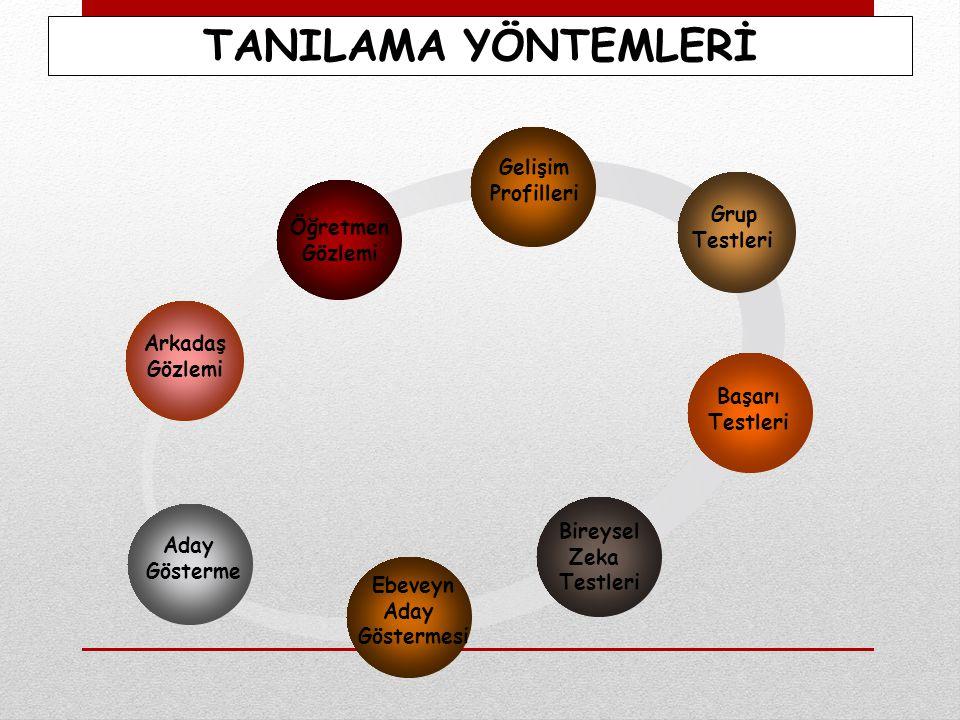 TANILAMA YÖNTEMLERİ Gelişim Profilleri Grup Öğretmen Testleri Gözlemi