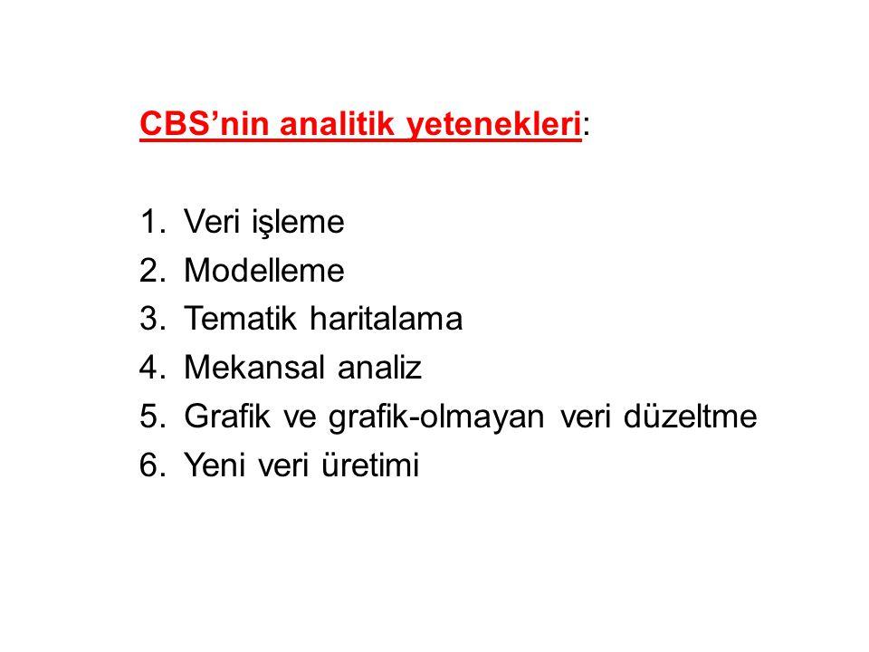 CBS'nin analitik yetenekleri: