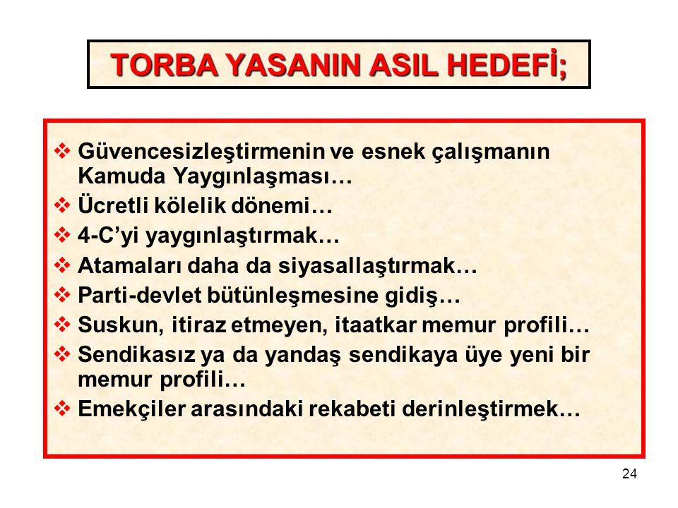 TORBA YASANIN ASIL HEDEFİ;