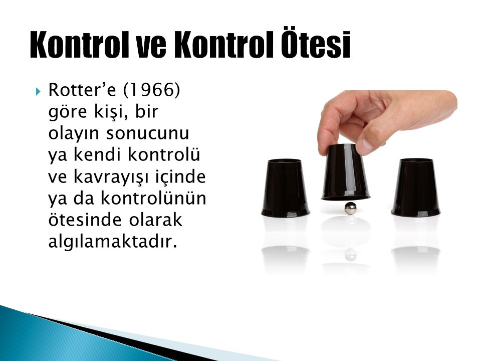 Kontrol ve Kontrol Ötesi